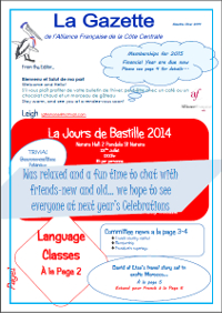 AFCC Newsletter l'hiver 2014 (click image to view/download PDF)