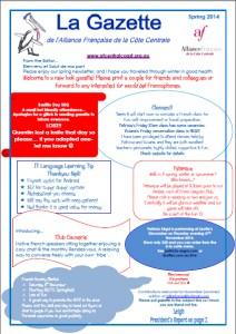 AFCC Newsletter Printemps (Spring) 2014
