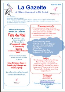 AFCC Newsletter Summer 2014/15